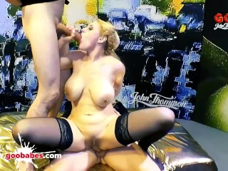 Angel Wicky gets her giant tits Covered with sperm - German Goo hoes
