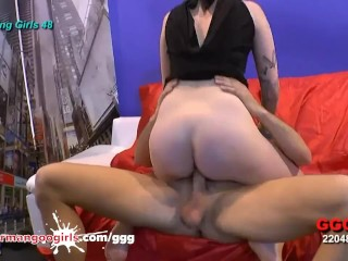 Rimming oral sex & Fucking on Casting Couch - GermanGooGirls